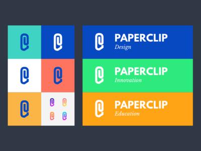 Exploring Paperclip Brand Identity identity branding colour text logo design brand