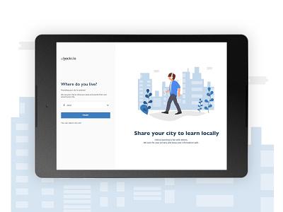 web on-boarding illustration layout simple material design ux ui dark web minimal