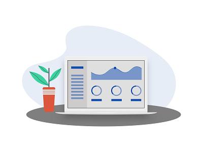 Dashboard illustration simple web minimal design art flat illustration vector