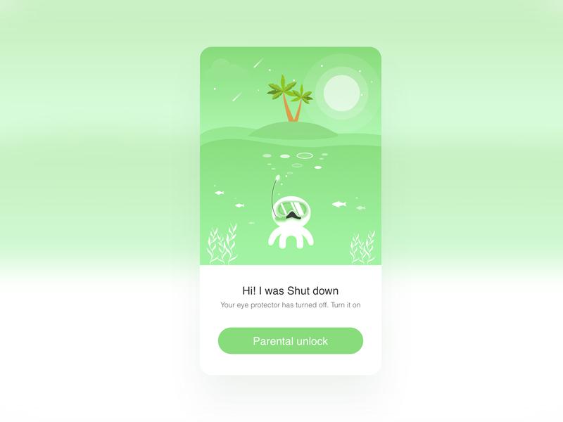 Diving illustrations ux 动画 app ui illustration design