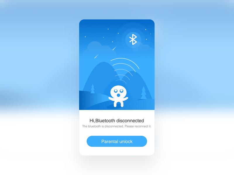 Bluetooth disconnect illustration sketch 动画 ux ui app illustration design
