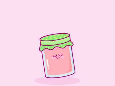 Mermelada de fresa Kawaii kawaii illustration vector