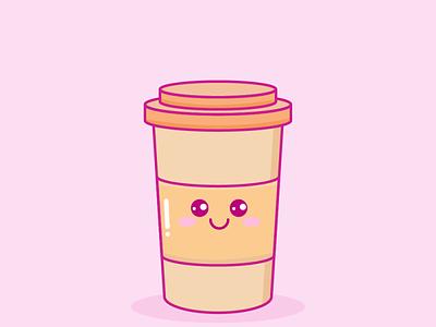 Coffee Kawaii vector kawaii illustration