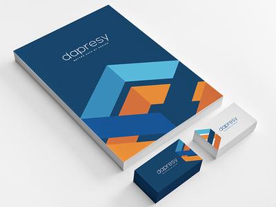 Dapresy branding stationary mockup corporate identity graphic profile print design business card brand logo creative colorful identity
