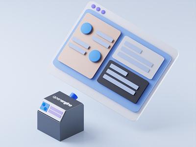 Interface 3D design ui illustration blender b3d 3d illustration 3d art 3d