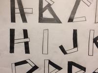 """""""Tangram Typeface"""""""