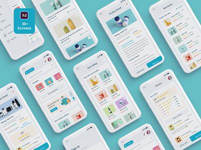 Medihut - Get Your Medicine Delivered medicalapp madbrains ecommerce designing concept company clientconcept clean branding design agencyapp