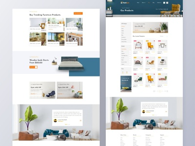 Furniture - Ecommerce Theme ui ux client  concept agency landing page madbrains company concept branding design