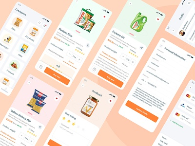 Grocery Store ui madbrains client concept ux clean typography food online shop grocery shopping app design uiux ecommerce online store ecommerce app