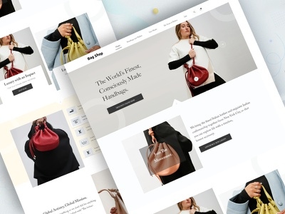 Shopify  E-commerce Landing Page designer lovepreetuiux madbrains bag shopping home page landing page design ui design ecommerce design shopify desgin