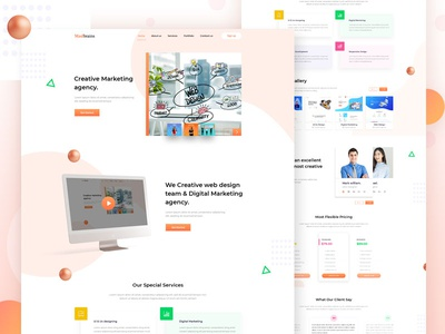Creative Marketing agency Landing page