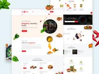 Megafood home page design