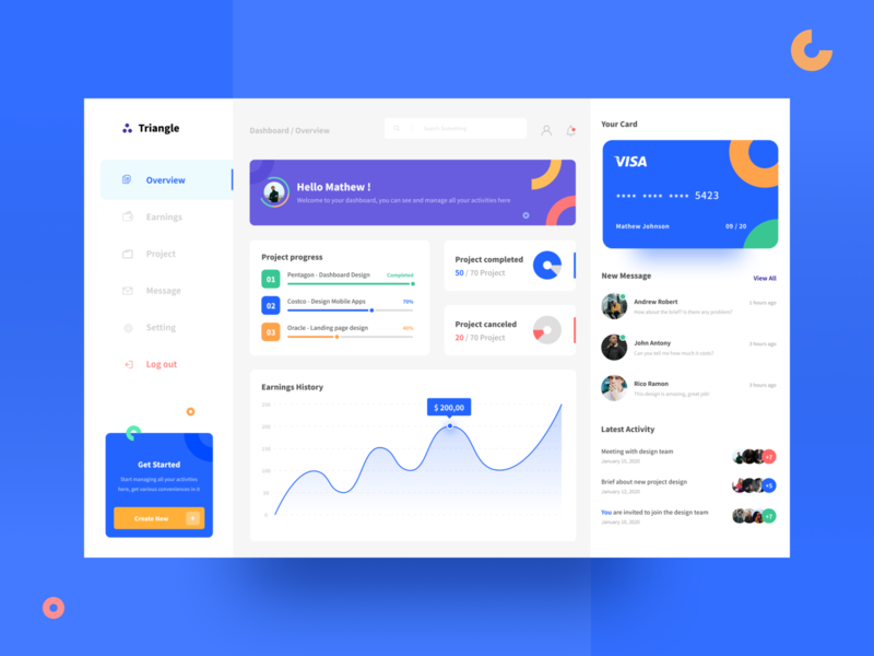 Triangle - Project Management Dashboard