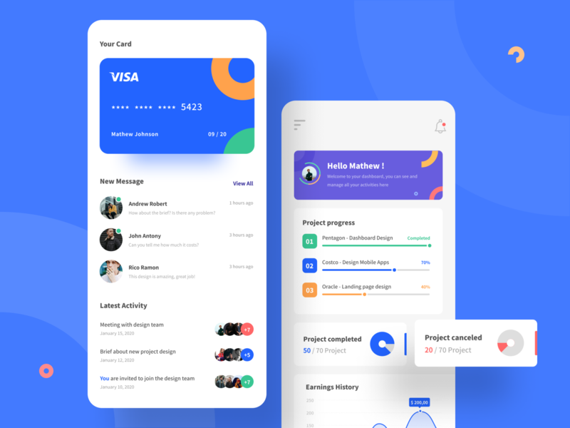 Triangle - Responsive Dashboard View mobile app mobile ui android chart earnings task management ios app mobile responsive management dashboad minimalist typography clean branding design ui uiux uidesign
