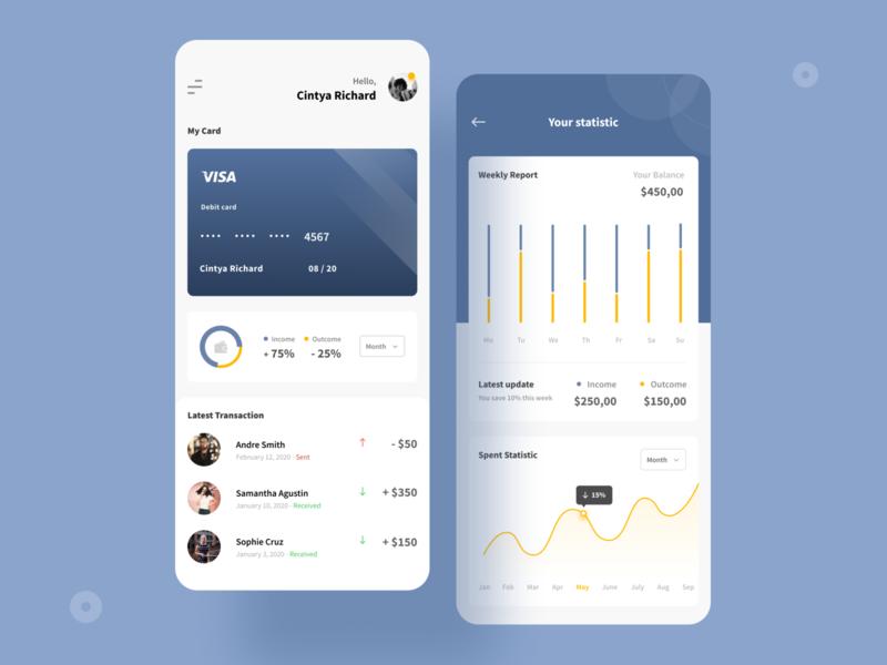 Finance App Exploration ios ios app design wallet finance finance app transaction statistics card chart clean design uidesign typogaphy minimalist mobile app mobile design clean app