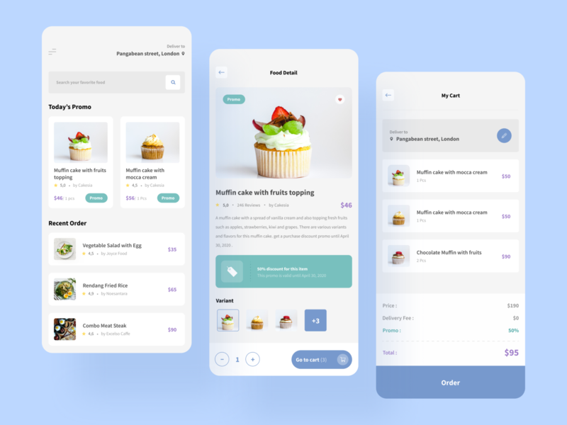 Food Delivery App - Challenge by Uplabs ux iphone mobile ios restaurant categories thumbnails recipes list food app food card detail page cart homepage minimalist clean ui uidesign