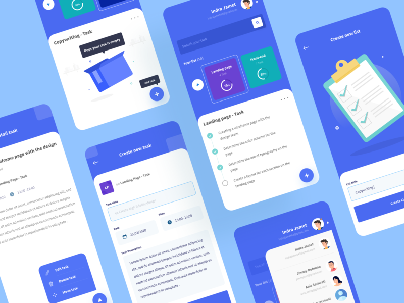 New Concept for Google Task 🔥 google design flat ux ios mobile interface illustration project minimalist clean ui task management empty state account card app