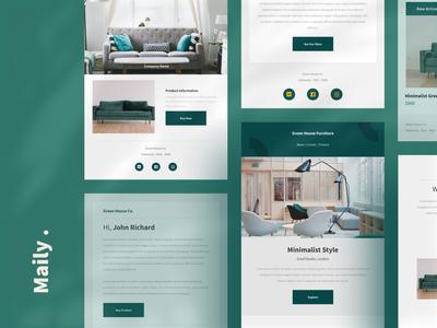 Maily - Premium Email Templates ui ux responsive website furniture typography branding buy business ui8 html email email template product design email design email