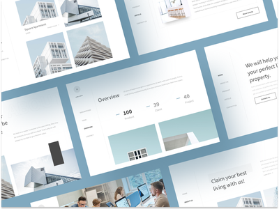 N O H O - Landing Page for Real Estate house design apartment ux ui branding real estate agency clean website realestate minimalist landing page business