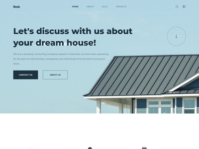 Omah - Property Consultant Website 🏠 agent sell typography architecture property marketing clean design minimalist ux uidesign ui website apartment house rent real estate landing page property