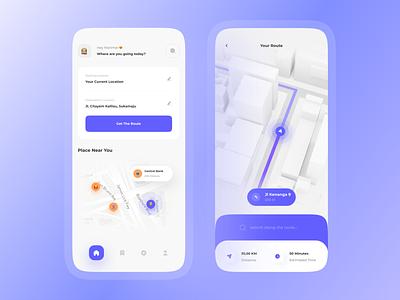 SQUY - Map App Concept clean building gps location 3d ux design guide clean design interface transport map route minimal uidesign app