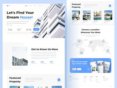 Griyo - Home Rent Landing Page app ux uiux apartment real estate agency rent home property real estate minimalist design ui clean uidesign web design landing page website