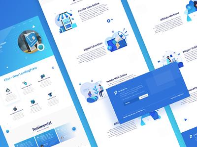 LandingPress Sales Page minimalis design branding responsivedesign responsive apps geometric gradient flatdesign illustration landingpage salespage uxdesign uidesign uiux website web