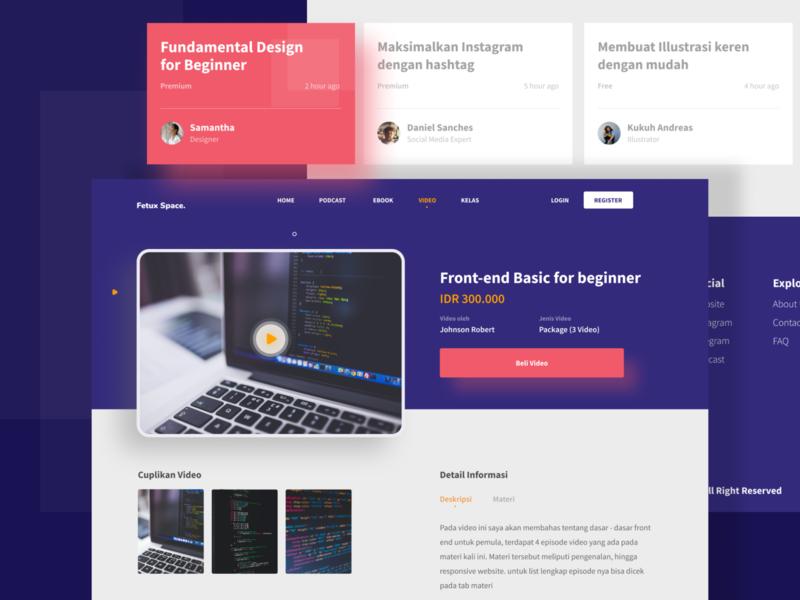 Website Exploration price desktop typogaphy video header image geometric ui design clean brand