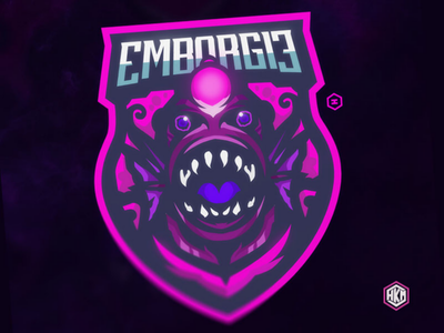 MASCOT LOGO MONSTER FISH LIGHT mascot logo esport sport twitch