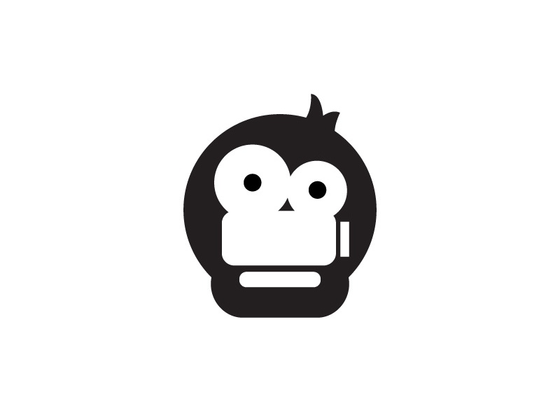 Camera Monkey logodesigner logodesign identity brand camera monkey flat illustration logo icon branding vector design