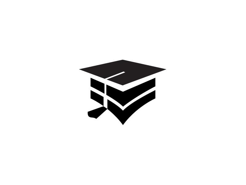 Mansion Student Logo identity vector flat student logodesigner logodesign logo design branding brand