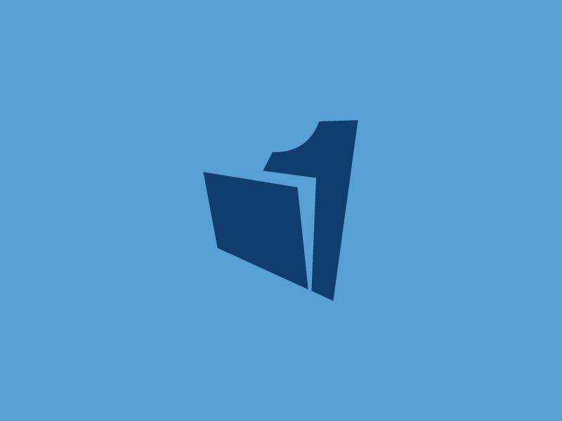 Onefile Logo flat identity vector logodesign logodesigner branding logo design brand