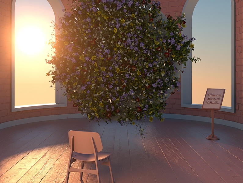 The Views / 17 flowers design 3d