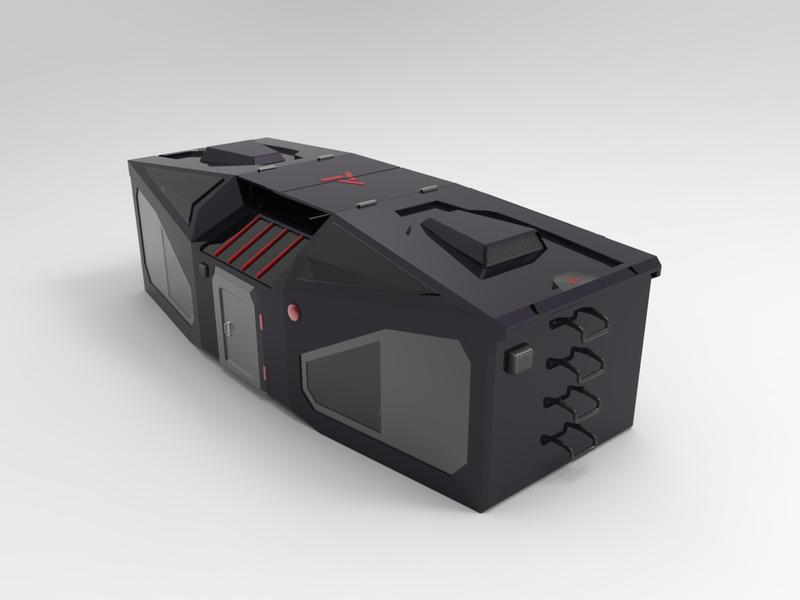 Defense Cabin 3D design 3d