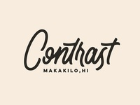 Contrast - Hand Lettering