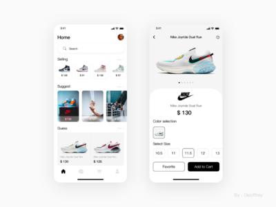 Nike concept mobile app, a bold idea. illustration design flat web typography branding ui design