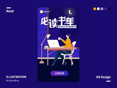 Workplace Books web animation ux ui flat illustration design