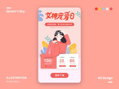 Goddess festival design ui flat illustration design