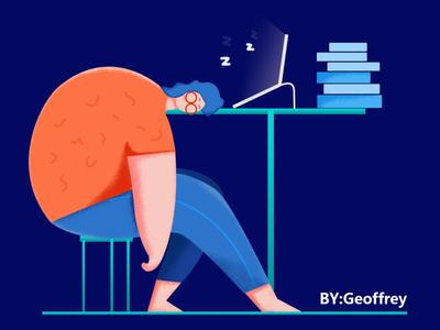 睡觉的人 illustration illustration design