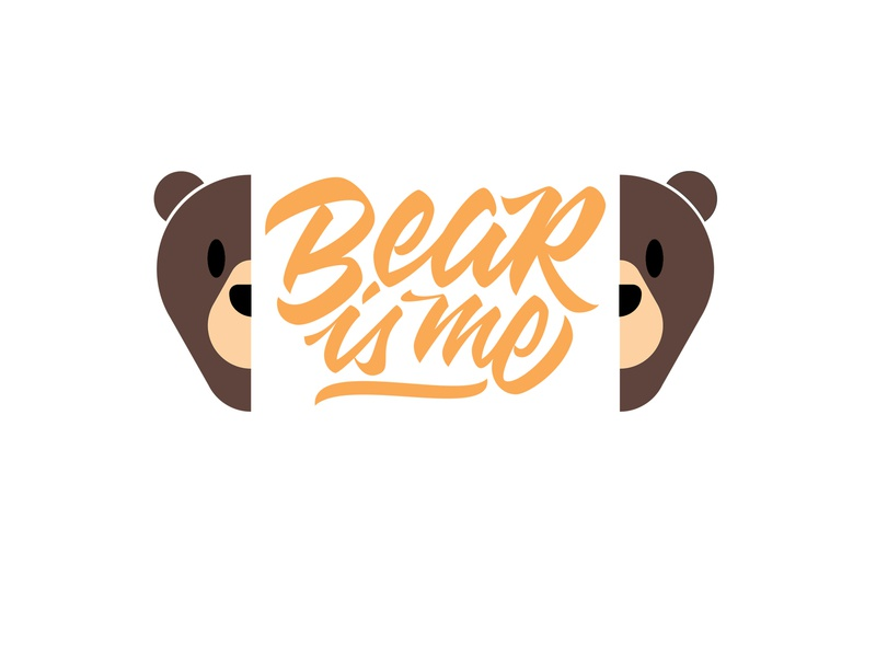 Bear Logotype vector handlettering lettering distro clothes brand agency branding logotype logo