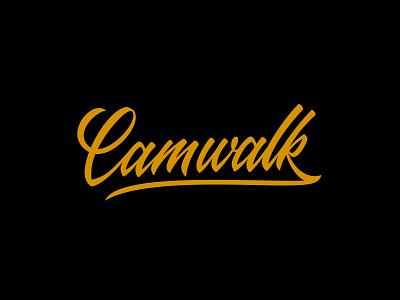 Camwalk Logotype branding handlettering lettering photgraphy design vector logotype brand agency logo