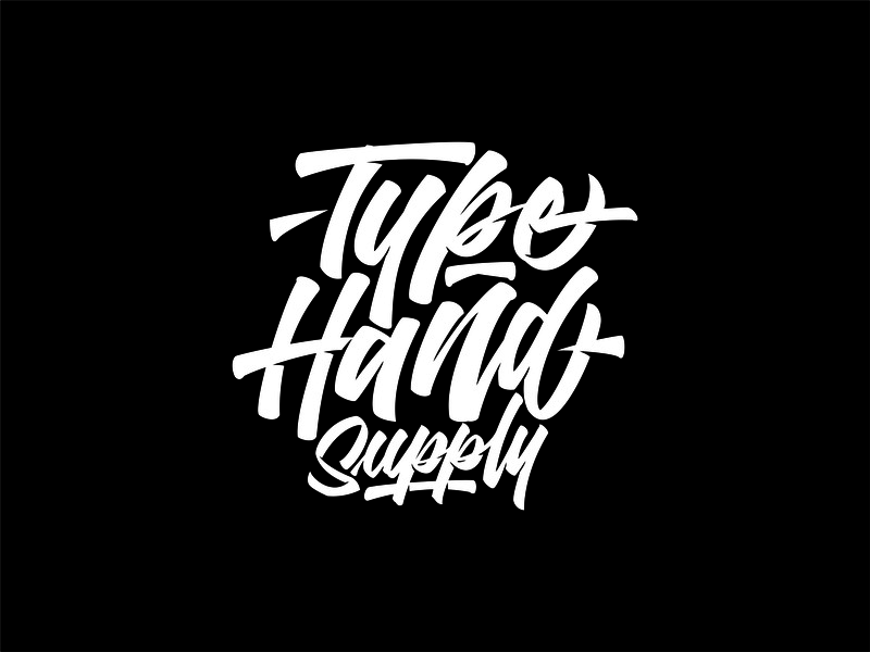 Typehand Supply Logotype typography brand agency clothes design logotype distro brand identity brand lettering logo vector illustration branding handlettering