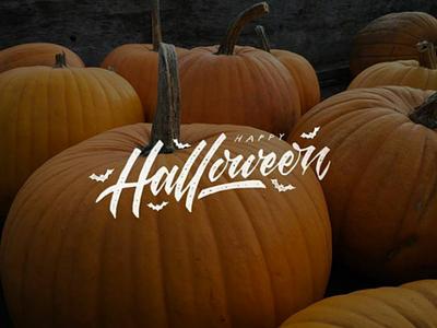 Halloween pumpkin design halloween lettering handlettering