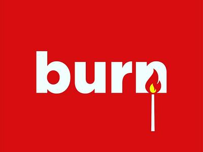Burn logo concept logotype negativespace brand logo burn fire
