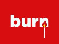 Burn logo concept