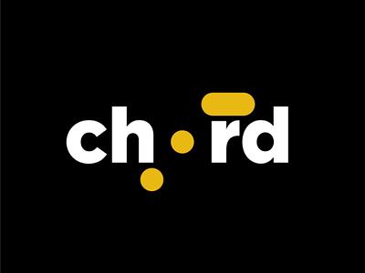Chord logo concept logotype negativespace brand logo melody music chord