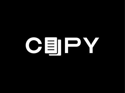 Copy logo concept logotype negativespace brand logo paper copy
