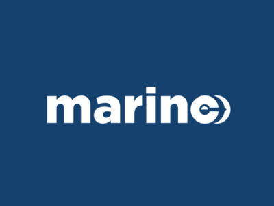 Marine logo concept vector digital artwork logospace negative space logotype branding logo anchor marine