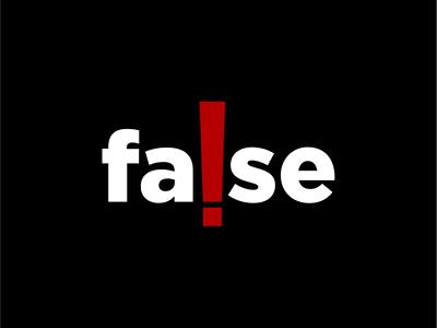 False logo concept branding logos logospace unique negative space logotype brand logo false