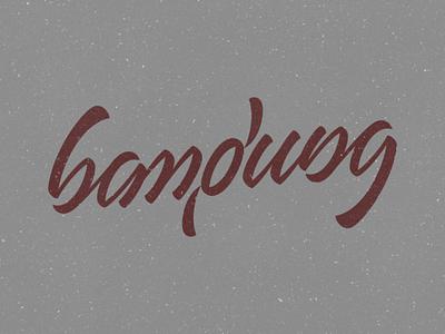 Bandung (ambigram) digital vector calligraphy typeface ambigram handtype type handlettering lettering